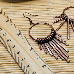 PinkDiva Boutique Jewelry - Mid Century Modern Style Antiqued Copper Earrings